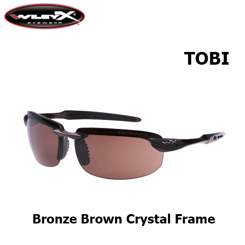 4b8003a849 Wiley X TOBI Bronze Brown Crystal Frame