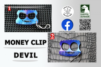 ToraT... Knives Money Clip Devil